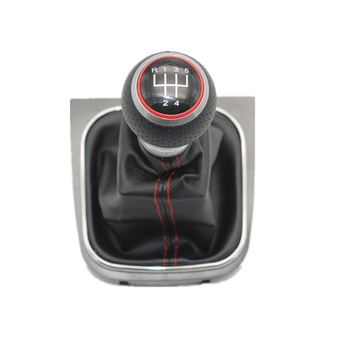 За VW Jetta 6 A6 MK6 GLI 2011 2012 2013 Car-Stying 5 6 Speed Speed Car Gear Stick Level Shift Knob With Leather Обувки