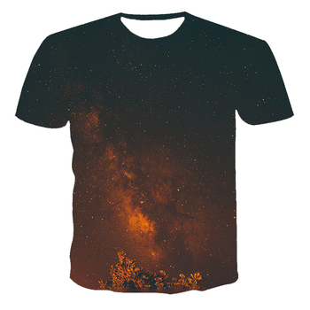Лятна тениска с къс ръкав Star Смешни T тениски Night Sky Shirt Space 3d T-shirt Clothing Tees Casual Men Top Tee Children