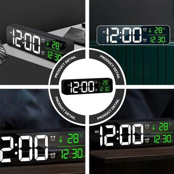 1pc Температура Digital Screen Wheather Light Clock Alarm Clock Lamp Clock for Bedroom Time Reminning Household