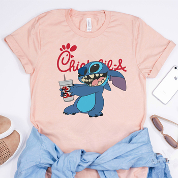 2020 Лило-Stitch T-shirt Смешни Бод Combine Chick Fil A Graphic Tee Unsex Chick-fil-a Shirt Битник Tops