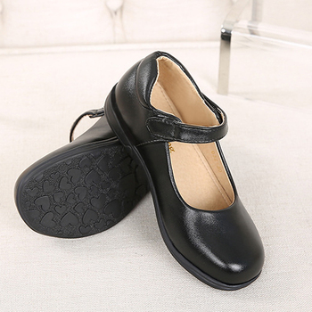 2020 Girls Leather Shoes Black Children Performance Обувки есен и зима New Princess Dress Shoes Elementary School Shoe 3rd