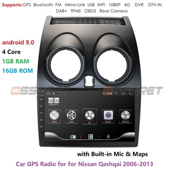 Android 9.0 Car Radio Multimedia Video Player GPS Навигация за Nissan Qashqai J10 2006 2007 2008 2009-2013 No 2 Din DVD