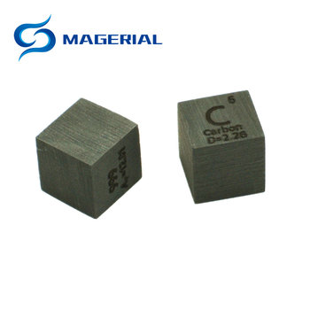 Carbon C Element Графит 10mm Density Cube 99.95% Pure for Element Collection Hand Made САМ Hobbies Crafts Display 10x10x10 мм