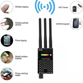 G618 Proker Detector 3 Antenna Anti Spy RF CDMA Signal Finder за GSM Bug GPS Tracker безжична скрита камера подслушване