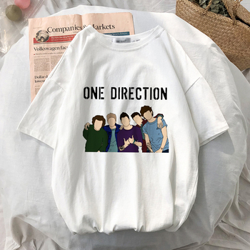 Harry Styles Print One Direction Merch Смешни T Shirt Fine Line Graphic Fashion Tees с къс ръкав Louis Tomlinson Femme T-тениски
