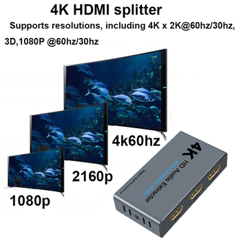 HDMI 1X2 Audio Extractor 5.1 HDMI Audio Extractor Сплитер HDMI To Audio Extractor Optical TOSLINK SPDIF 3.5 MM AUDIO