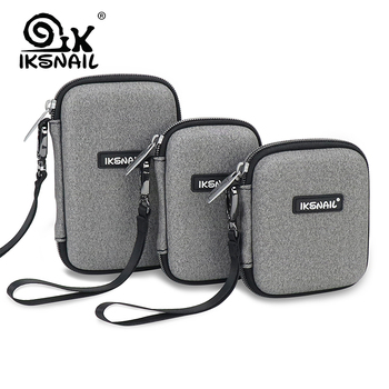 IKSNAIL Digital Case Protect Bags Box For WD Hard Drive Multi-size Power Bank USB Cable Charger External Hard Disk Pouch Case