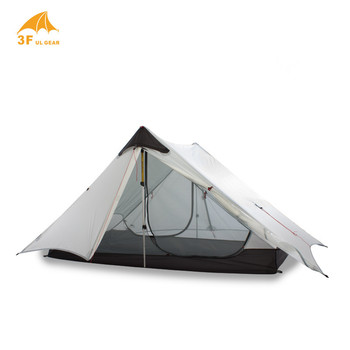 LanShan 2 3F UL GEAR 2 1 Person Person Outdoor Ultralight Camping Tent 3 Сезон 4 Сезон Professional 15Г Silnylon Rodless Tent