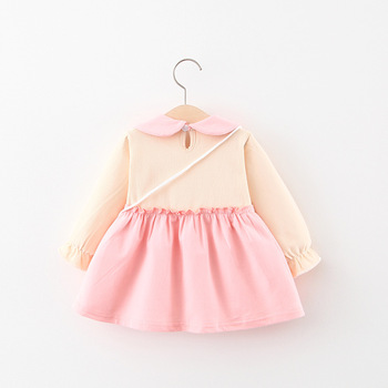 LZH New Autumn Winter Бебе Baby Girls Party Princess Dress For Baby Girls Casual Cartoon Long Sleeve Dress Newborn Clothes
