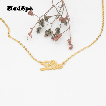 MadApe Gold Color Stainless Steel Letter