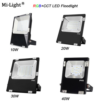 Miboxer FUTT02/ FUTT03/FUTT04 /FUTT05/FUTT06 10W/20W/30W/50W RGB+CCT LED Flood light AC100-240V DC24V IP65, открит Градински светлина