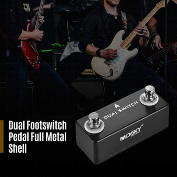 MOSKY DUAL SWITCH Guitar Pedal Dual Footswitch Foot Switch Guitar Effect Pedal Full Metal Shell китара резервни части и аксесоари