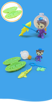 Octonauts Shellington and the swell shark resure explore set figures birthday gift bath toy child