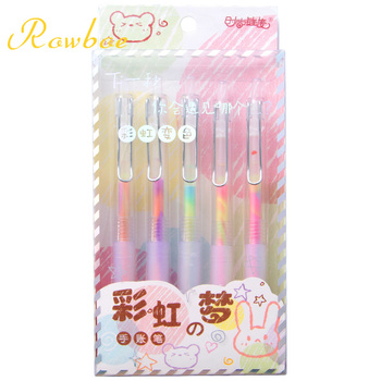 ROWBOE сладко stationery creative gel pen dream color акварел дръжка момиче сладко flash pen account pen kawaii supplies