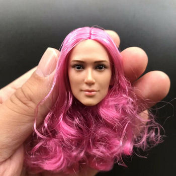TBLeague Custom 1/6 Scale Pink Hair Female Soldier Head Извайвам for 12in Action Figure Toy