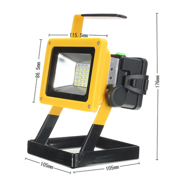 TSLEEN 30W LED Flood Light 18650 Battery Operated Spot Lamp Camping Fishing Спешно Lamp Refletor Led Projecteur Led Exterieur