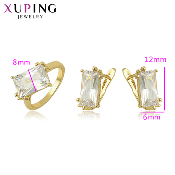 Xuping Fashion Jewelry Romantic Rhodium Color Plated Anniversary Jewelry Sets for Women Christmas Gifts 65240